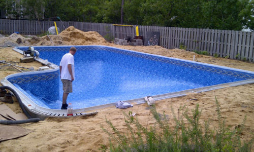 Vinyl Liner prior to backfill